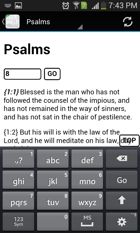 Catholic Bible: Lite Version- screenshot