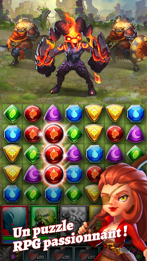 Dragon Strike: Puzzle RPG  captures d'écran 1