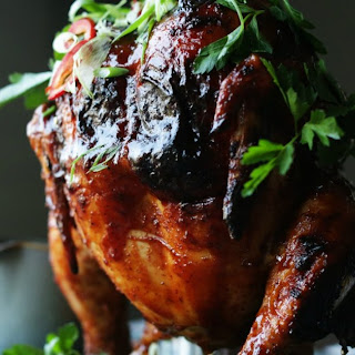 Grilled BBQ Beer Can Chicken Recipe