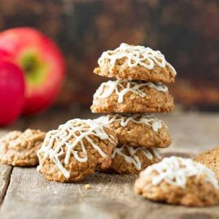 Maple Glazed Apple Oatmeal Cookies
