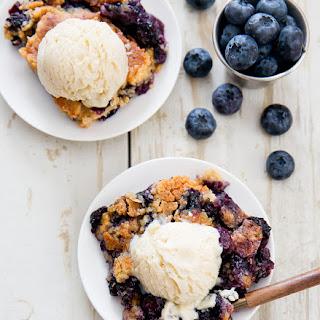 Bursting Blueberry Cobbler Dump Cake.