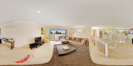 Photo: Beach House 2 - Upstairs Living Room/Balcony/Kitchen/Dining/Desk www.escapeatnobbys.com.au