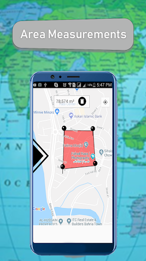 Distance Finder Map on