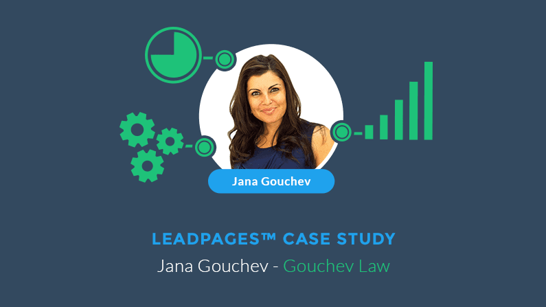 Jana Gouchev used LeadPages® to grow her business law firm.