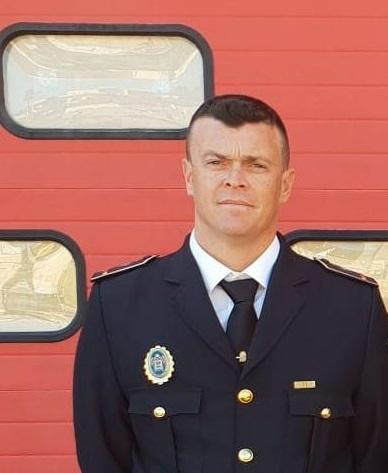 Andrés Magaña, oficial de la Policía Local.