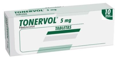 Nebivolol Tonervol 5 Mg X 10 Tabletas Producto de Laboratorios Farma. Tratamiento de la hipertensión arterial esencial. Tratamiento de la insuficiencia cardiaca crónica estable.