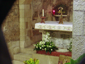 Photo: The Cave of the Annunciation in the lower church