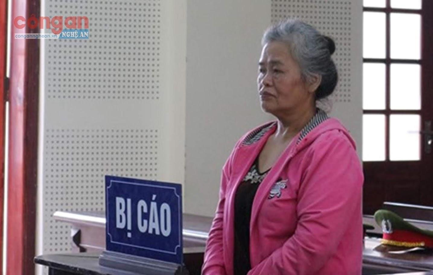 Bị cáo Nguyễn Thị Hạnh tại phiên tòa phúc thẩm