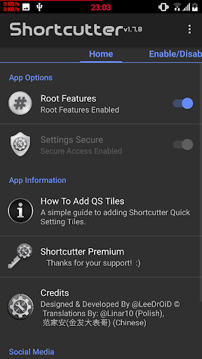 Shortcutter Quick Settings v1.9.4 [Premium]