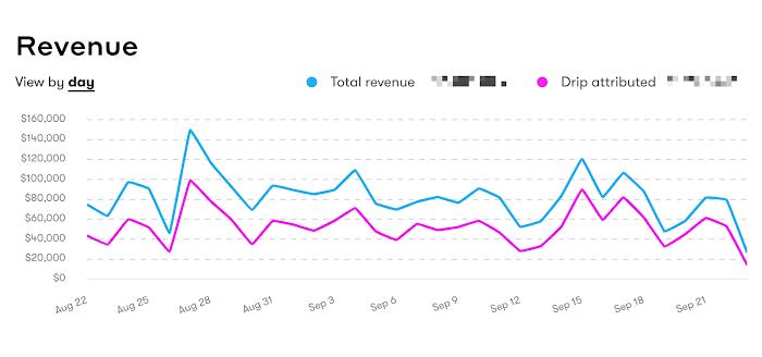 Delta Team Tactical's revenue dashboard.