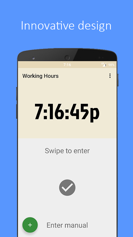 Working Hours- screenshot