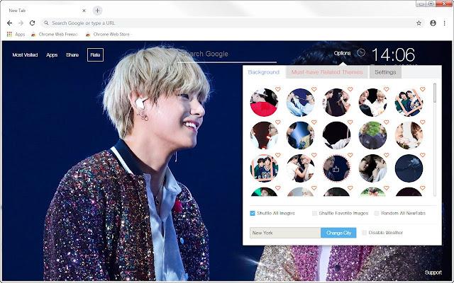 BTS TaeJin Wallpaper HD Custom V & Jin NewTab