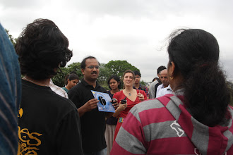 Photo: Naveen giving a talk on ToV