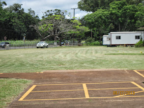 Photo: A special grass cutting helped to make the school grounds look  neat!