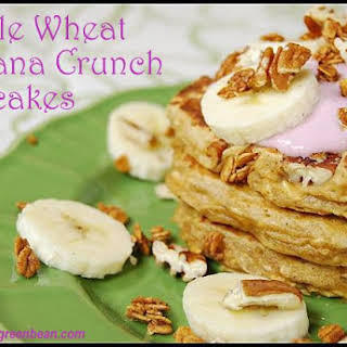 Whole Wheat Banana Crunch Pancakes.