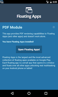 Floating Apps - PDF Module- screenshot thumbnail