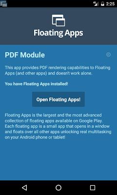 Floating Apps - PDF Module - screenshot