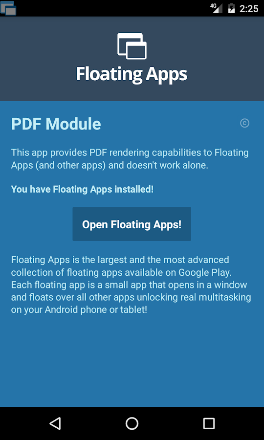 Floating Apps - PDF Module- screenshot