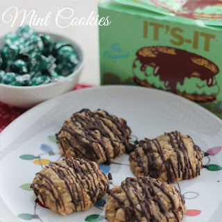 4 Oatmeal Chocolate Mint Cookies