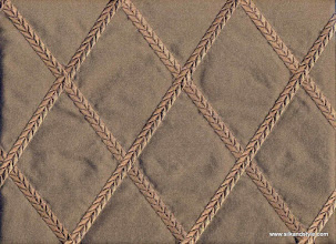 Photo: Embroidered Silk Taffeta ~ Feena - Brown