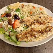 Branzino with Greek Salad