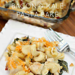 Cheesy Chicken Bacon & Kale Pasta.