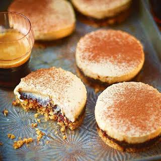 Jamie Oliver's espresso cheesecakes.