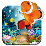 Acquarium 3D live wallpaper free ocean, sea &fish Icon