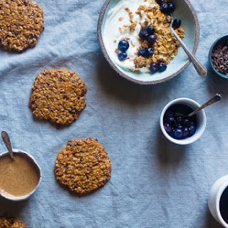 Healthy Oatmeal Breakfast Cookies with Granola.