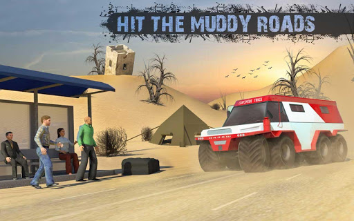 8x8 Offroad Mud Truck Spin Tires: Trucker Games 18 apktram screenshots 10