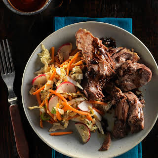 Slow-cooker Vietnamese Style Beef Pot Roast with Asian Slaw.