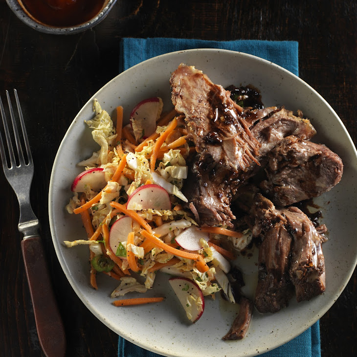 Slow-cooker Vietnamese Style Beef Pot Roast with Asian Slaw