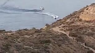Captura de pantalla del vídeo de la persecución.