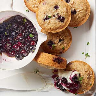 Blueberry-Oat Financiers