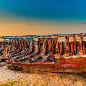 Remainings -5 by Vijayanand Kandasamy - Transportation Boats ( wreck, manapad, decayed, boat )