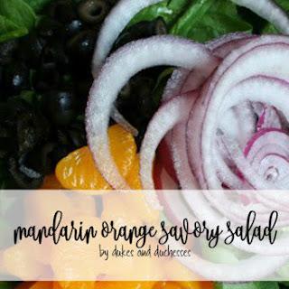 Mandarin Orange Savory Salad