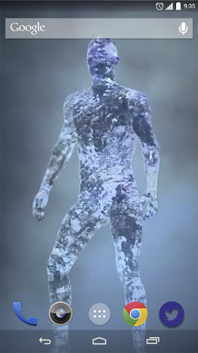 Man of Ice Live Wallpaper
