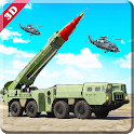 Missile launcher US army truck 3D simulator 2018 icon