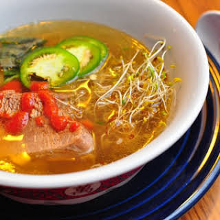 Pressure Cooker Pho Bo (Vietnamese Beef Noodle Soup).