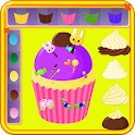 cooking games cake coloring icon