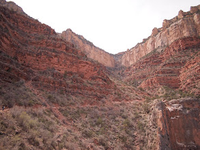 Photo: Looking up Bright Angel Trail
