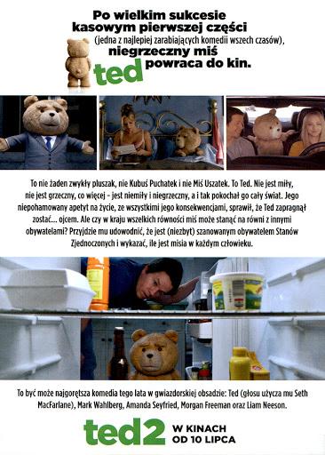 Tył ulotki filmu 'Ted 2'