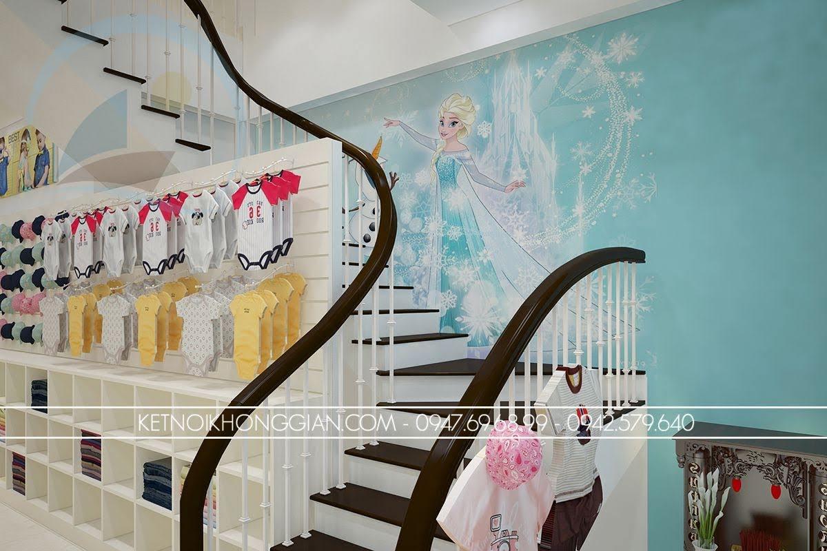 thiết kế shop thời trang mẹ và bé hiện đại