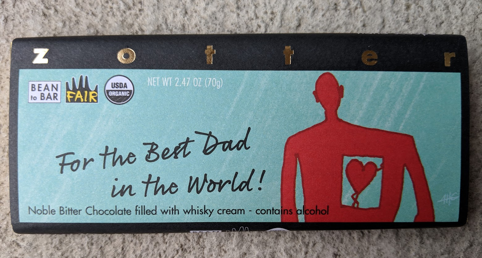 70% best dad bar