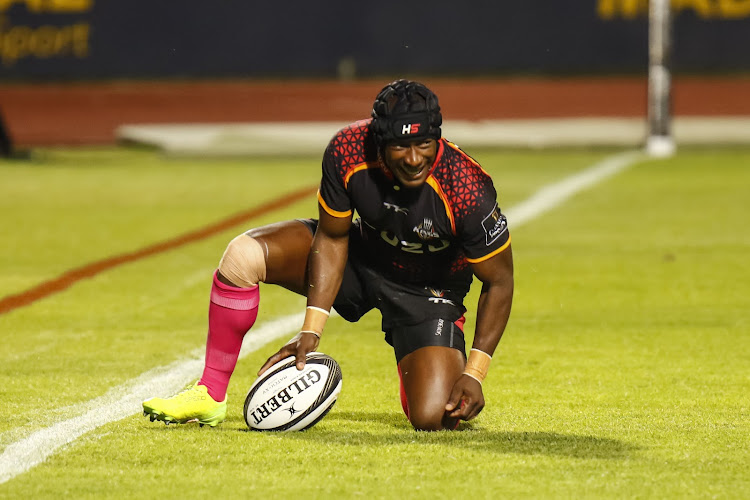 Southern Kings fullback Masixole Banda is receiving attention after getting a knock to his leg