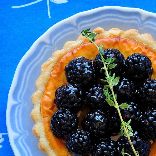 Blackberry Goat Cheese Tart Recipe