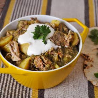 Pork Shoulder Chili Verde with Potatoes.