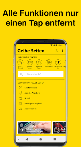 Gelbe Seiten - Auskunft und mobiles Branchenbuch 6.16-0381813b0 screenshots 1