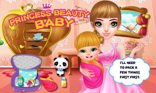 美しい赤ちゃんの王女