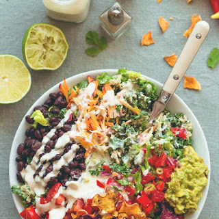 Mexican Kale Salad with Cashew Dressing Recipe
